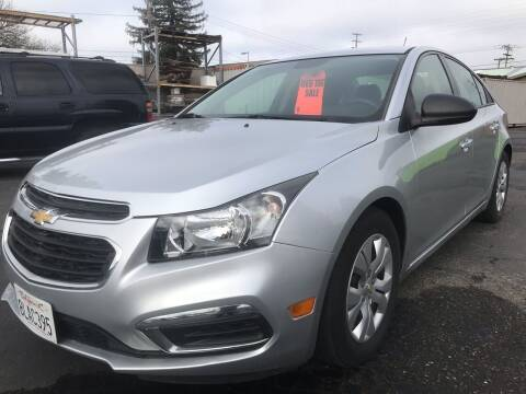 2015 Chevrolet Cruze for sale at AutoDistributors Inc in Fulton CA