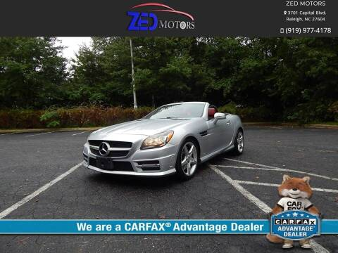 2013 Mercedes-Benz SLK for sale at Zed Motors in Raleigh NC