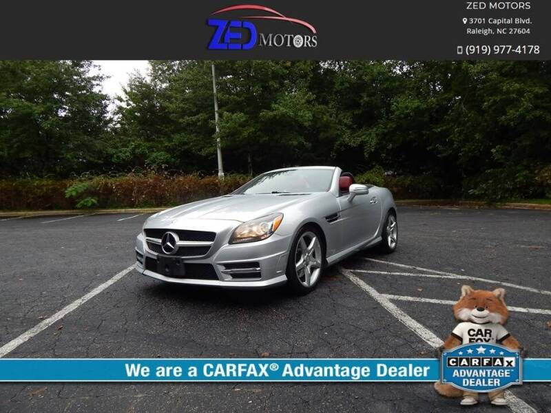 2013 Mercedes-Benz SLK for sale at Zed Motors in Raleigh NC