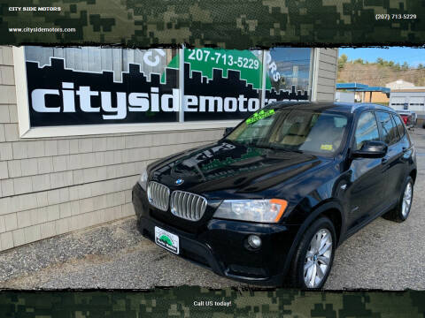 2014 BMW X3 for sale at CITY SIDE MOTORS in Auburn ME