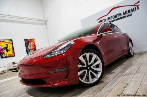 2019 Tesla Model 3 for sale at AUTO IMPORTS MIAMI in Fort Lauderdale FL