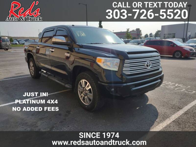 2017 Toyota Tundra for sale at Red's Auto and Truck in Longmont CO