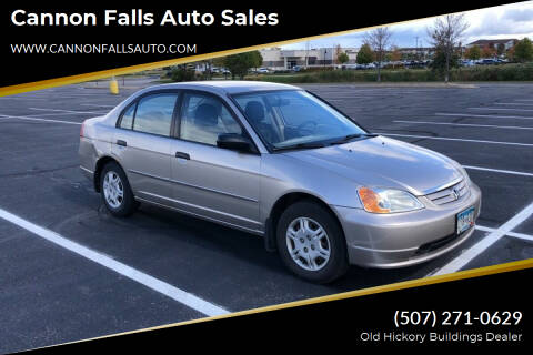 2001 Honda Civic for sale at Cannon Falls Auto Sales in Cannon Falls MN