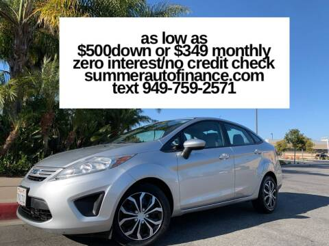 2013 Ford Fiesta for sale at SUMMER AUTO FINANCE in Costa Mesa CA