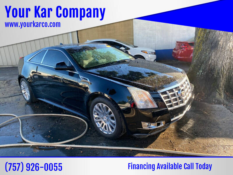 2013 Cadillac CTS for sale at Your Kar Company in Norfolk VA