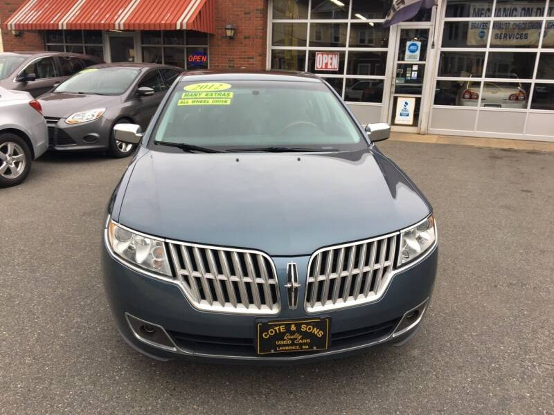 2012 Lincoln MKZ for sale at Cote & Sons Automotive Ctr in Lawrence MA