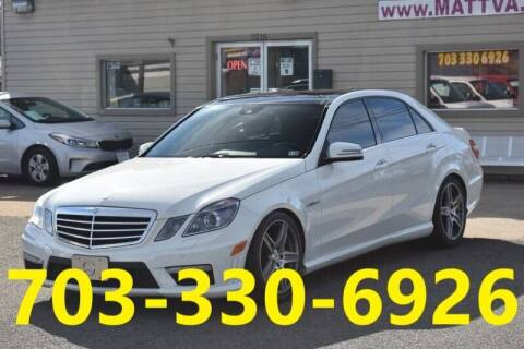 2010 Mercedes-Benz E-Class for sale at MANASSAS AUTO TRUCK in Manassas VA
