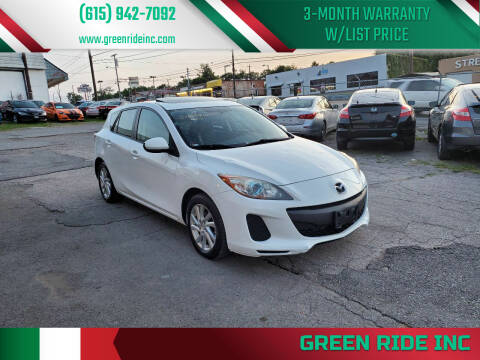 2012 Mazda MAZDA3 for sale at Green Ride Inc in Nashville TN