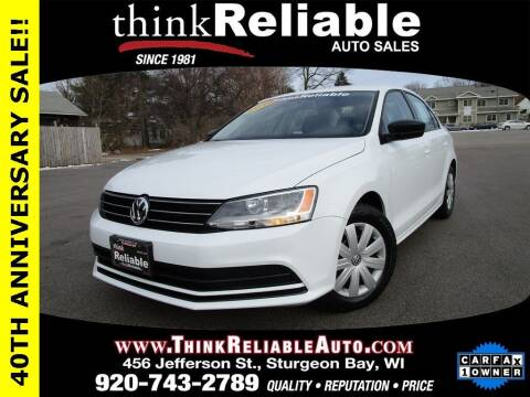 2016 Volkswagen Jetta for sale at RELIABLE AUTOMOBILE SALES, INC in Sturgeon Bay WI