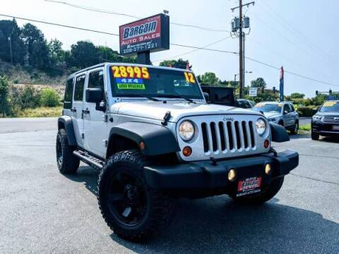 2012 Jeep Wrangler Unlimited for sale at Bargain Auto Sales LLC in Garden City ID