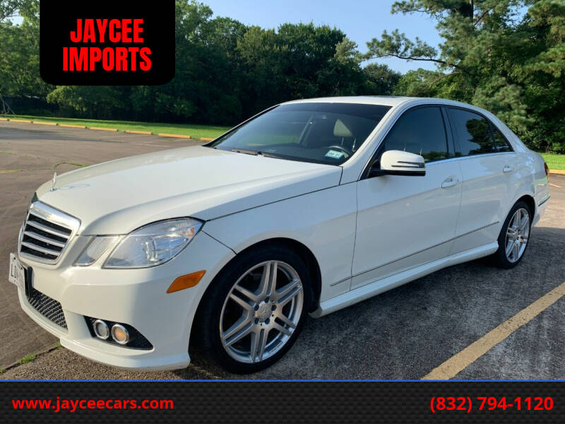 2010 Mercedes-Benz E-Class for sale at JAYCEE IMPORTS in Houston TX