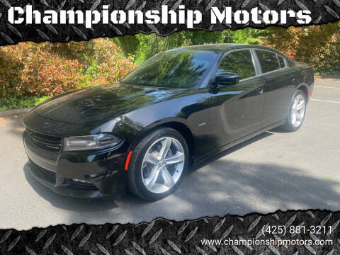 2016 Dodge Charger for sale at Championship Motors in Redmond WA
