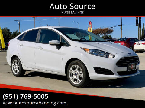 2015 Ford Fiesta for sale at Auto Source in Banning CA