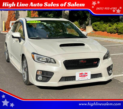 2015 Subaru WRX for sale at High Line Auto Sales of Salem in Salem NH