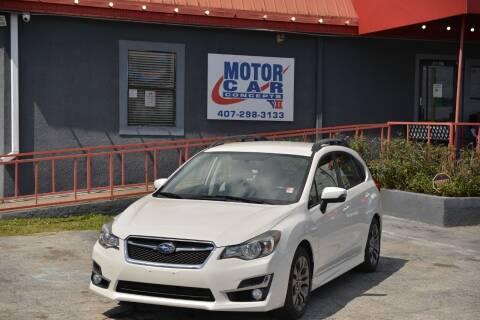2016 Subaru Impreza for sale at Motor Car Concepts II - Colonial Location in Orlando FL