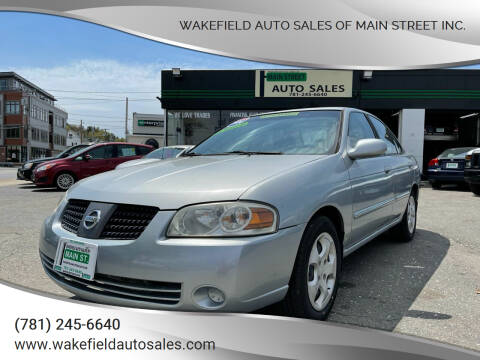 2004 Nissan Sentra for sale at Wakefield Auto Sales of Main Street Inc. in Wakefield MA