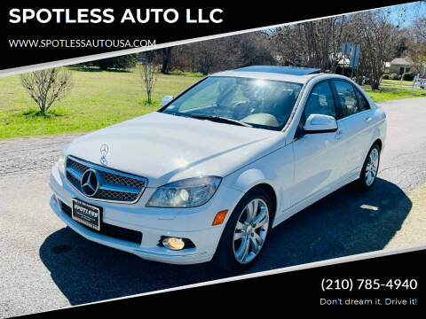 2008 Mercedes-Benz C-Class for sale at SPOTLESS AUTO LLC in San Antonio TX
