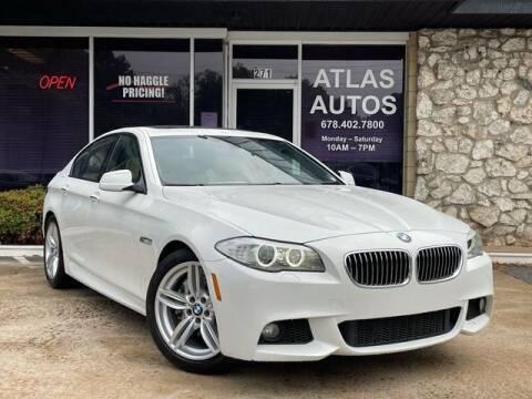 2013 BMW 5 Series for sale at ATLAS AUTOS in Marietta GA