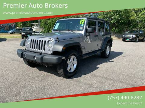 2017 Jeep Wrangler Unlimited for sale at Premier Auto Brokers in Virginia Beach VA