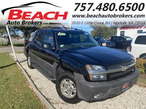 2003 Chevrolet Avalanche for sale at Beach Auto Brokers in Norfolk VA