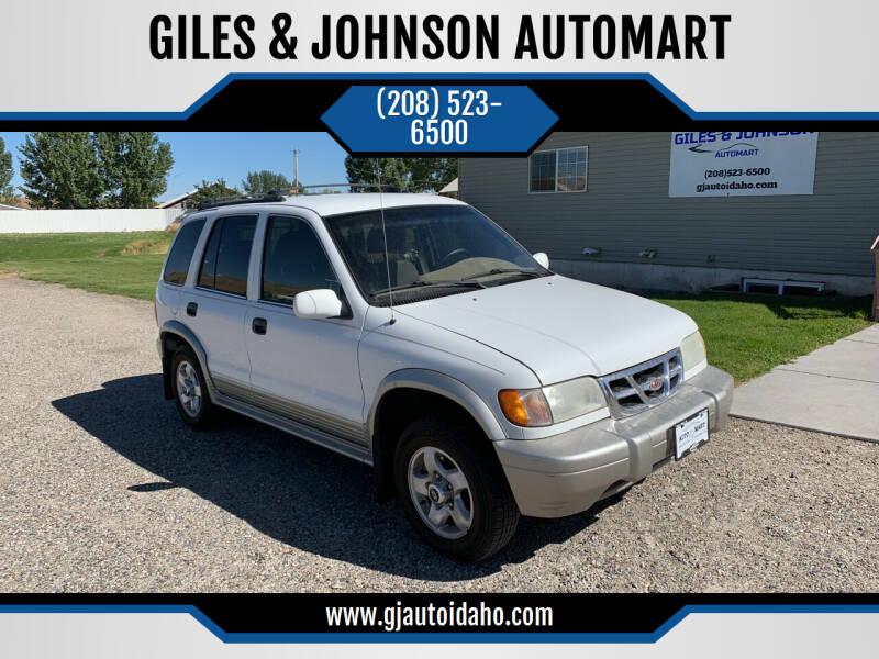 2000 Kia Sportage for sale at GILES & JOHNSON AUTOMART in Idaho Falls ID