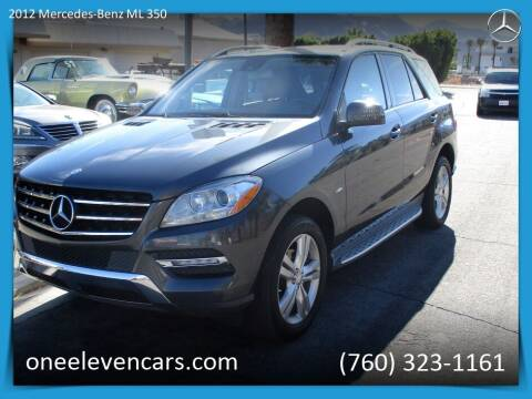 2012 Mercedes-Benz M-Class for sale at One Eleven Vintage Cars in Palm Springs CA