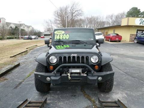 2011 Jeep Wrangler Unlimited for sale at Credit Cars of NWA in Bentonville AR