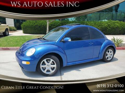 2005 Volkswagen New Beetle for sale at WS AUTO SALES INC in El Cajon CA