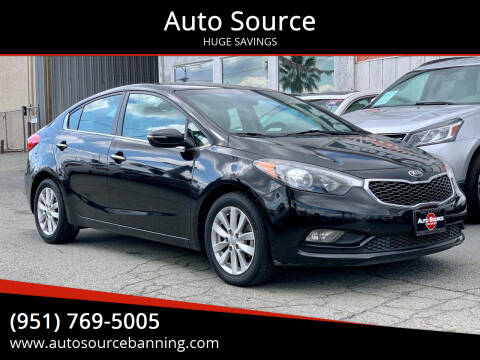 2014 Kia Forte for sale at Auto Source in Banning CA
