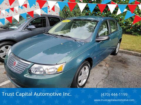 2007 Saturn Ion for sale at Trust Capital Automotive Inc. in Covington GA