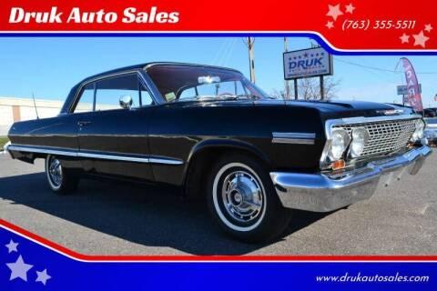 1963 Chevrolet Impala for sale at Druk Auto Sales in Ramsey MN