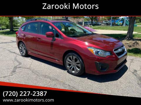 2013 Subaru Impreza for sale at Zarooki Motors in Englewood CO
