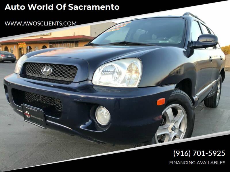 2004 Hyundai Santa Fe for sale at Auto World of Sacramento Stockton Blvd in Sacramento CA