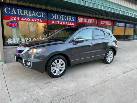 2010 Acura RDX for sale at Carriage Motors LTD in Ingleside IL