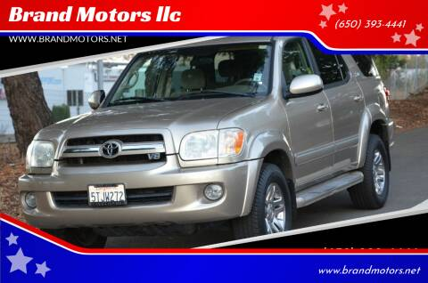 2006 Toyota Sequoia for sale at Brand Motors llc in Belmont CA