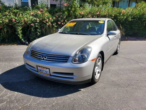 2004 Infiniti G35 for sale at ALL CREDIT AUTO SALES in San Jose CA