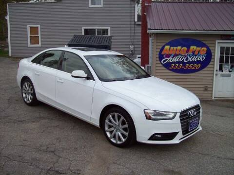 2013 Audi A4 for sale at Auto Pro Auto Sales-797 Sabattus St. in Lewiston ME