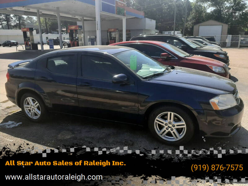 2013 Dodge Avenger for sale at All Star Auto Sales of Raleigh Inc. in Raleigh NC