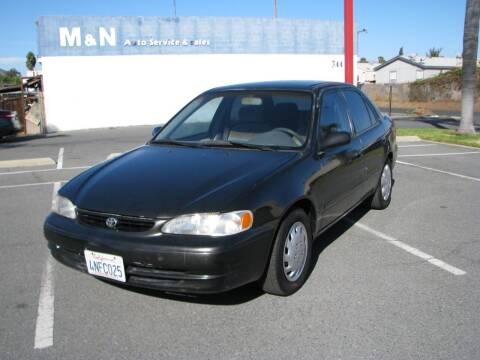 1999 Toyota Corolla for sale at M&N Auto Service & Sales in El Cajon CA