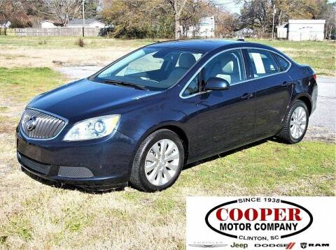 2016 Buick Verano for sale at Cooper Motor Company in Clinton SC