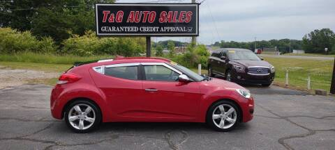 2014 Hyundai Veloster for sale at T & G Auto Sales in Florence AL