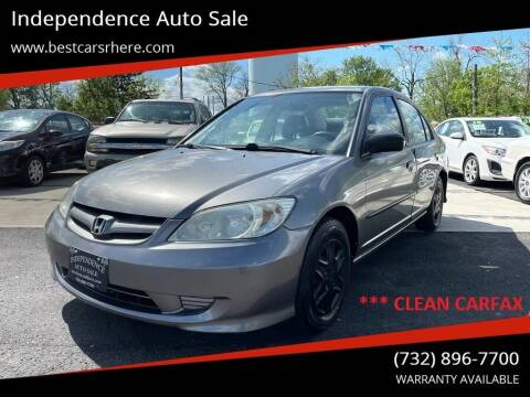 2005 Honda Civic for sale at Independence Auto Sale in Bordentown NJ