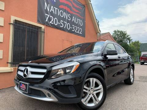 2016 Mercedes-Benz GLA for sale at Nations Auto Inc. II in Denver CO