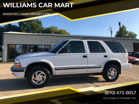 2001 Chevrolet Blazer for sale at WILLIAMS CAR MART in Gassville AR