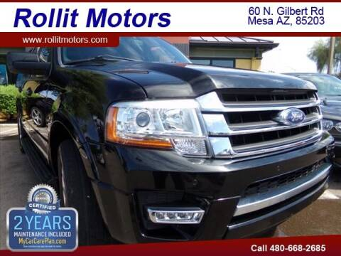 2017 Ford Expedition EL for sale at Rollit Motors in Mesa AZ
