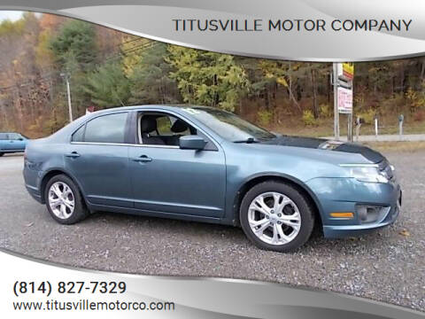 2012 Ford Fusion for sale at Titusville Motor Company in Titusville PA