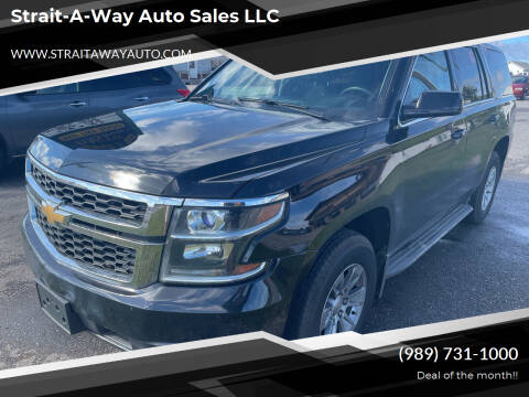 2016 Chevrolet Tahoe for sale at Strait-A-Way Auto Sales LLC in Gaylord MI