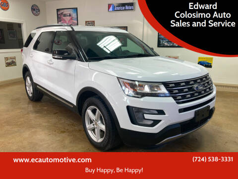 2017 Ford Explorer for sale at Edward Colosimo Auto Sales and Service in Evans City PA