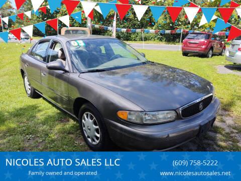 2003 Buick Century for sale at NICOLES AUTO SALES LLC in Cream Ridge NJ