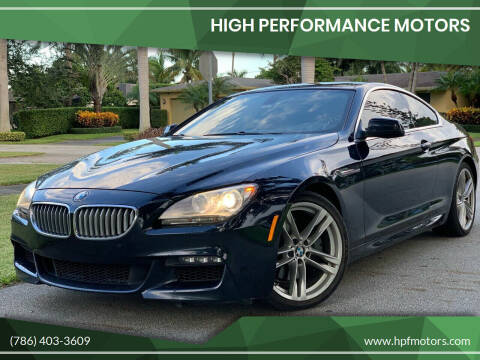 2012 BMW 6 Series for sale at HIGH PERFORMANCE MOTORS in Hollywood FL